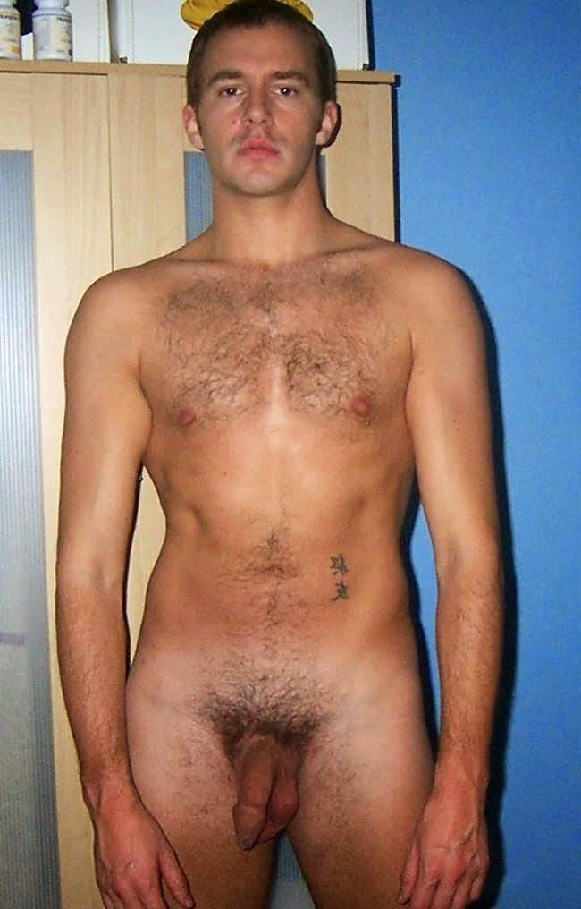 Nude Guy With Soft Uncut Cock