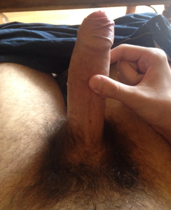 Man Wanking His Hard Hairy Penis - Nude Boy Pictures